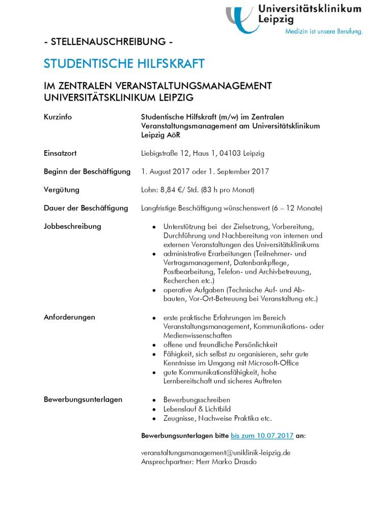 Erfreut Veranstaltungsmanagement Teilzeit Lebenslauf Galerie ...