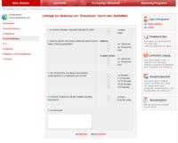 Screenshot der Umfrage im Studierendenportal zum gewünschten Kreuztool: examen online vs. AMBOSS
