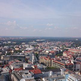 Blick vom City-Hochhaus über Leipzig