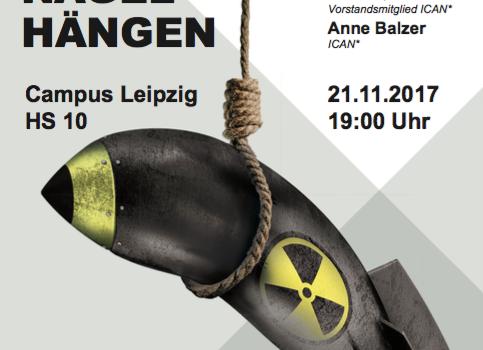 Plakat: Atomrakete am Galgen