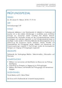 thumbnail of PRÜFUNGSPEZIAL Workshopreihe 2018