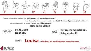 thumbnail of Breaking the Silence Plakat_Filmabend_Louisa