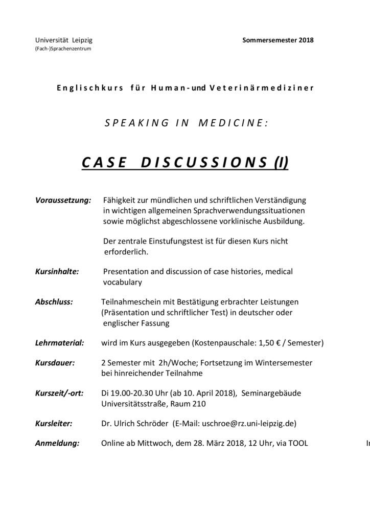 thumbnail of case discussions speaking in medicine SS 2018
