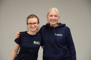 unsere Projektgruppenkoordinatorinnen Wiktoria und Ronja