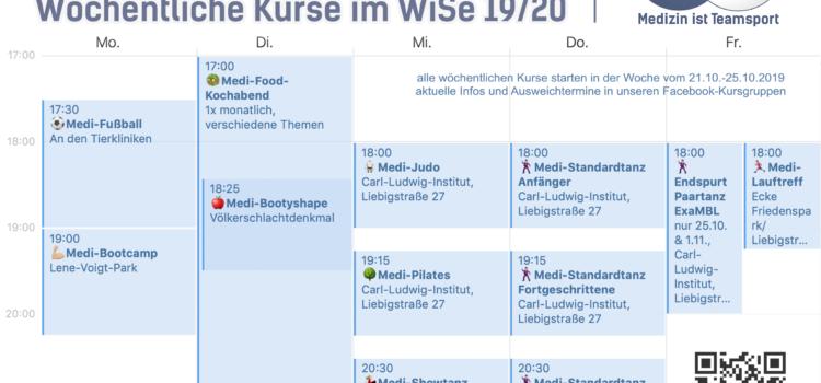 Medi-Sport Leipzig: Kurs- & Eventübersicht WiSe 19/20